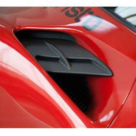 03FE08710010LG-CO405 - racingpowersports.com - Capristo Ferrari 488 GTS Side Panel Carbon Fiber Air Intake