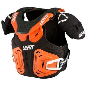 1018010023-RPSLE31 - racingpowersports.com - Leatt Fusion Neck Vest 2.0 Junior XXL 150-165cm Orange
