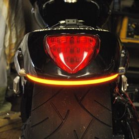 109-REAR-TL-A - racingpowersports.com - New Rage Cycles Rear LED Turn Signals for Suzuki M109R 2006-Present in Amber