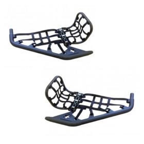 40N021+40H011+40M6001-RPSLR350 - racingpowersports.com - Lonestar Racing LSR Dc-pro Black Mx Nerf Bars & Heel Guards Polaris Outlaw 525