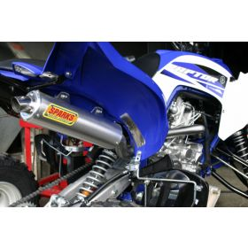 PY15700RX6SS-M-RPSSS198 - racingpowersports.com - Sparks Racing X-6 Stainless Steel Race Core Full Exhaust Yamaha Raptor 700 2015+