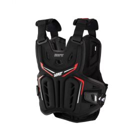 5017120113-RPSLE73 - racingpowersports.com - Leatt Chest Protector 3DF AirFit Soft Shell XXL Black/Red