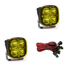557811-RPSBA1469 - racingpowersports.com - Baja Designs Squadron Sport Pair ATV LED Light Spot Led Amber Pattern