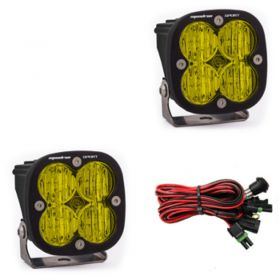 557815-RPSBA1471 - racingpowersports.com - Baja Designs Squadron Sport Pair ATV LED Light Wide Cornering Amber Pattern