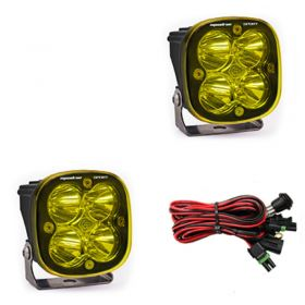 557816-RPSBA1472 - racingpowersports.com - Baja Designs Squadron Sport Pair ATV LED Light Flood Work Amber Pattern