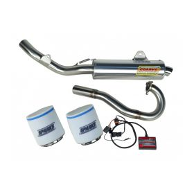 EPDCA08450DSSS-M-RPSSS95 - racingpowersports.com - Sparks Racing Stage 1 Power Kit Ss Race Core Exhaust Can-am Ds450