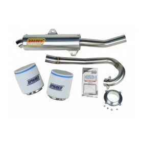 EPDK05400KFXSS-BC-RPSSS116 - racingpowersports.com - Sparks Racing Stage 1 Power Kit Ss Big Core Exhaust Kawasaki Kfx400 05+