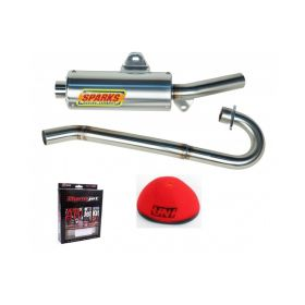 EPDY08250RSS-RPSSS139 - racingpowersports.com - Sparks Racing Stage 1 Power Kit Ss Exhaust Yamaha Raptor 250