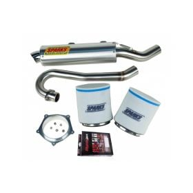 EPDY12450YFZSS-BC-RPSSS150 - racingpowersports.com - Sparks Racing Stage 1 Power Kit Ss Big Core Exhaust Yamaha Yfz450 12+