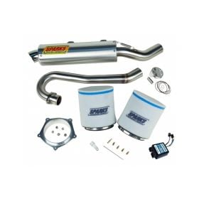 PPY04450YFZSSS2-M-RPSSS155 - racingpowersports.com - Sparks Racing Stage 2 Power Kit Ss Race Core Exhaust Yamaha Yfz450 2004-2011