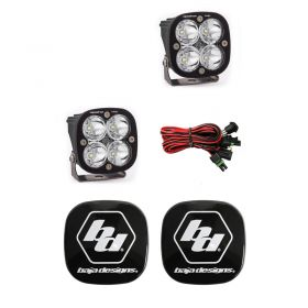 497806+668001-RPSBA2036 - racingpowersports.com - Baja Designs Squadron Pro LED Pair Work/Scene Light Kit & Rock Guards Black