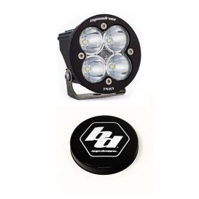 590001+668007-RPSBA2040 - racingpowersports.com - Baja Designs Squadron-R Pro LED Spot Light Kit & Rock Guard Black