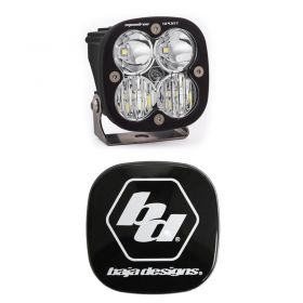 550003+668001-RPSBA2053 - racingpowersports.com - Baja Designs Squadron Sport LED Driving/Combo Light Kit & Rock Guard Black