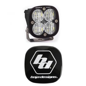 550005+668001-RPSBA2054 - racingpowersports.com - Baja Designs Squadron Sport LED Wide Cornering Light Kit & Rock Guard Black