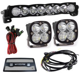 "701003+497803+497505+640122-RPSBA2319 - racingpowersports.com - Baja Designs S8 10"" & Squadron Pro Driving/Combo LED Light Kit Jeep JK 2007-2017"