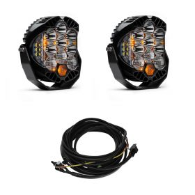 320003+640172-RPSBA2350 - racingpowersports.com - Baja Designs Pair LP9 LED Driving/Combo Lights & Harness Kit