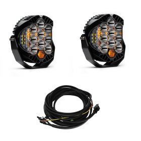 330001+640172-RPSBA2356 - racingpowersports.com - Baja Designs Pair LP9 LED Racer Edition Spot Lights & Harness Kit