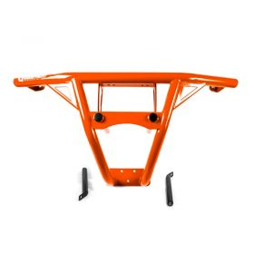 9356112468-IQ368  - racingpowersports.com - HMF IQ Defender HD Deluxe Front Bumper Orange Polaris General 2016-2017