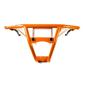 9356112468-IQ369 - racingpowersports.com - HMF IQ Defender HD Deluxe Front Bumper Orange Polaris RZR XP Turbo 2017-2018
