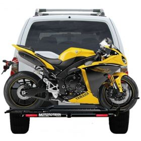MTXS+MTLEU-RPSME3 - racingpowersports.com - MOTOTOTE MOTO TOTE SPORT BIKE MOTORCYCLE CARRIER HITCH RACK RAMP LED LIGHT