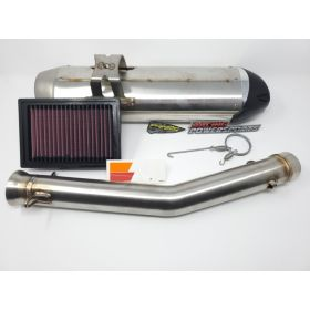 005-5170409-S1+CM-9910-RPSPK5 - racingpowersports.com - Can-Am Ryker 600 900 Rally PowerKit 1 Two Brothers Exhaust + KN Air Filter