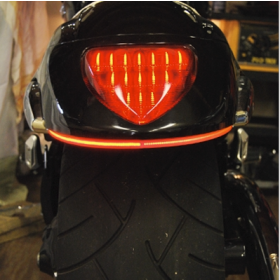 109-REAR-TL-R - racingpowersports.com - New Rage Cycles Rear LED Turn Signals for Suzuki M109R 2006-Present in Red