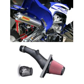 PY15700RX6SS-BC+IN004-15-RPSSS217 - racingpowersports.com - Sparks Racing X6 Big Core Exhaust Fuel Customs Intake Yamaha Raptor 700 2015+