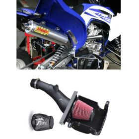 PY15700RX6SS-BC+IN004-15BX-RPSSS218 - racingpowersports.com - Sparks Racing X6 Big Core Exhaust Fuel Customs AirBox Yamaha Raptor 700 2015+