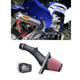 PY15700RX6SS-M+IN004-15-RPSSS219 - racingpowersports.com - Sparks Racing X6 Race Exhaust Fuel Customs Air Intake Yamaha Raptor 700 2015+