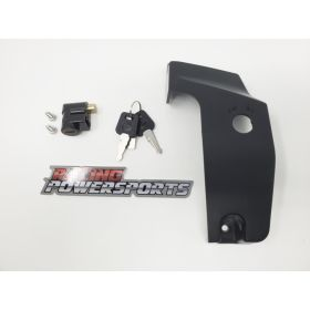 707000666 + 707002241 - racingpowersports.com - CAN-AM Ryker 900 / 600 / Rally Keyed Parking Brake Lock & OEM Cover 707000666