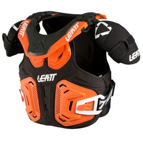 1018010021-RPSLE29 - racingpowersports.com - Leatt Fusion Neck Vest 2.0 Junior S/M 105-125cm Orange