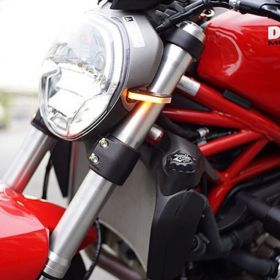 1200-FS-RPSNC190 - racingpowersports.com - New Rage Cycles Ducati Monster 1200 2014-2016 Front Turn Signals