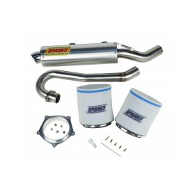 EPDY04450YFZSS-BC-RPSSS133 - racingpowersports.com - Sparks Racing Stage 1 Power Kit Ss Big Core Exhaust Yamaha Yfz450 2004-2011