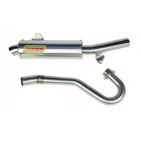 PH04450TRXSS-BC-RPSSS8 - racingpowersports.com - Sparks Racing X-6 Stainless Steel Big Core Full Exhaust Honda Trx450r 2004-2005