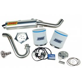 PPY09450YFZSSS2-BC-RPSSS161 - racingpowersports.com - Sparks Racing Stage 2 Power Kit Ss Big Core Exhaust Yamaha Yfz450x