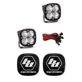 497801+668001-RPSBA2033 - racingpowersports.com - Baja Designs Squadron Pro LED Pair Spot Light Kit & Rock Guards Black