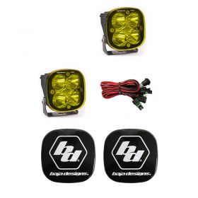 497811+668001-RPSBA2037 - racingpowersports.com - Baja Designs Squadron Pro LED Pair Spot Amber Light Kit & Rock Guards Black