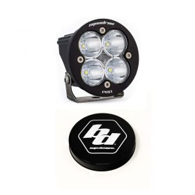 590006+668007-RPSBA2043 - racingpowersports.com - Baja Designs Squadron-R Pro LED Work/Scene Light Kit & Rock Guard Black