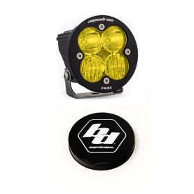 590013+668007-RPSBA2044 - racingpowersports.com - Baja Designs Squadron-R Pro LED Driving/Combo Amber Light Kit & Rock Guard Black