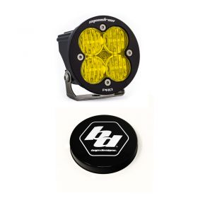 590015+668007-RPSBA2045 - racingpowersports.com - Baja Designs Squadron-R Pro LED Wide Cornering Amber Light Kit & Rock Guard