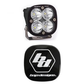 550006+668001-RPSBA2055 - racingpowersports.com - Baja Designs Squadron Sport LED Work/Scene Light Kit & Rock Guard Black