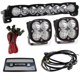 "701003+557803+497505+640122-RPSBA2320 - racingpowersports.com - Baja Designs S8 10"" & Squadron Sport Driving/Combo LED Light Kit Jeep JK 07-17"