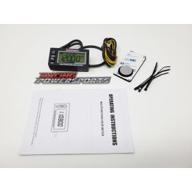 RL-HM028-RPS12 - racingpowersports.com - RacingPowerSports Backlight LCD Inductive Multifunction Hour Meter Tachometer