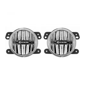 497-RPSKC223 - racingpowersports.com - Kc Hilites Gravity Led G4 Fog Light Pair Pack compatible with Jeep Jk 2010-2018