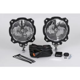 91303-RPSKC211 - racingpowersports.com - Kc Hilites Gravity Led Pro6 Single Driving Beam Sae/Ece Pair Pack System