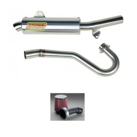 PH04450TRXSS-BC+IN002-RPSSS224 - racingpowersports.com - Sparks Racing X6 Big Core Full Exhaust Fuel Customs Intake Honda TRX450R 04-05