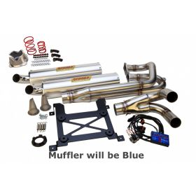 PPP141000XPS2-BL-RPSSS173 - racingpowersports.com - Sparks Racing Stage 2 Power Kit Ss Full Blue Exhaust Polaris Rzr Xp 1000